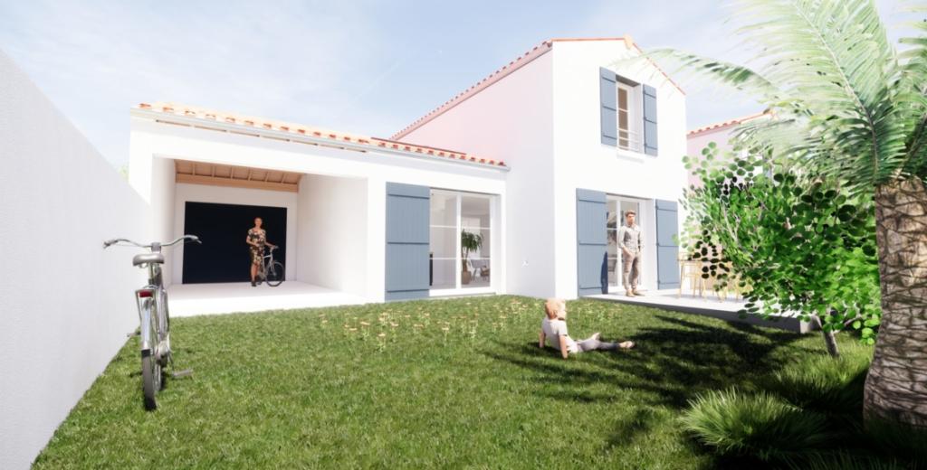 Dept 17 - Île d'Oléron - Saint Pierre Pierre d'Oléron - Maison Neuve en lotissement, T3 duplex, 2ch, jardin de 66m2