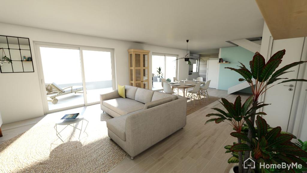 Appartement duplex dernier étage 5pièces - vue mer - Agay