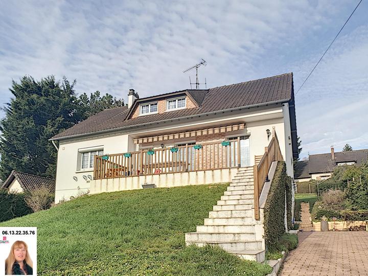 Gaillon proche - Maison de 170 m2 au calme avec 3 chambres + 1.000 m2 de terrain - Prix : 218.000