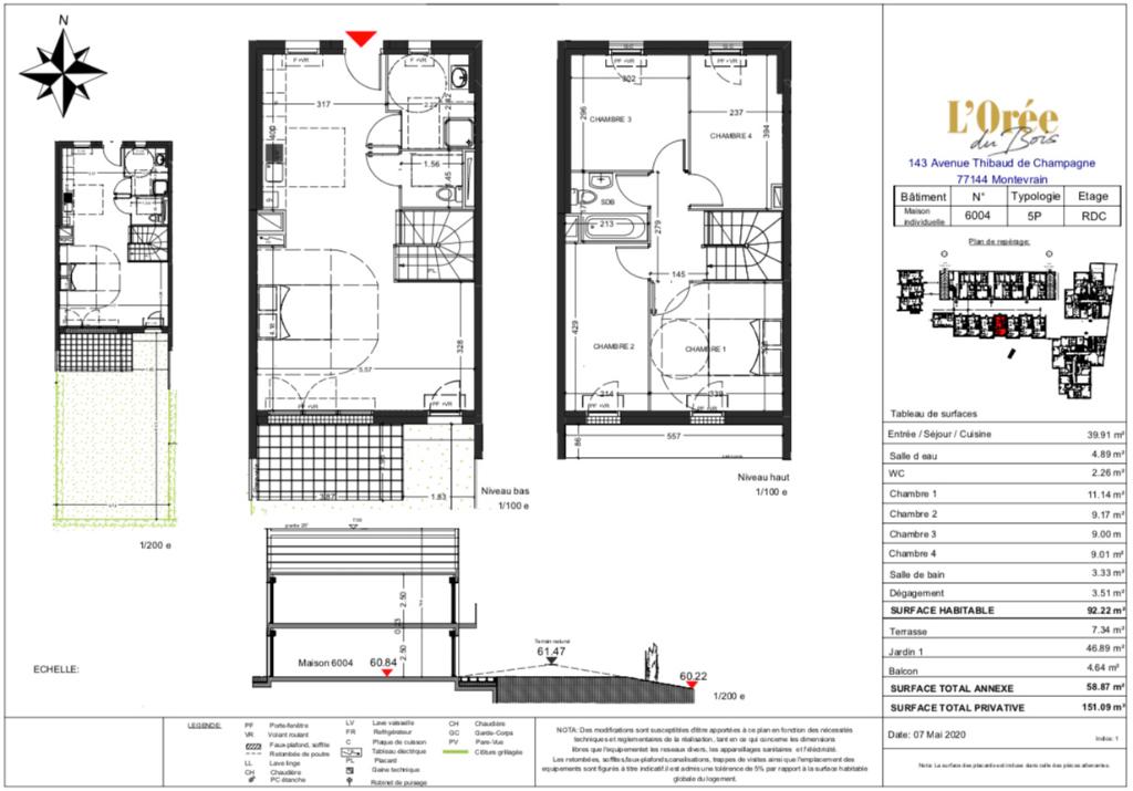 Maison 5p - 92m2 - 77144 MONTEVRAIN