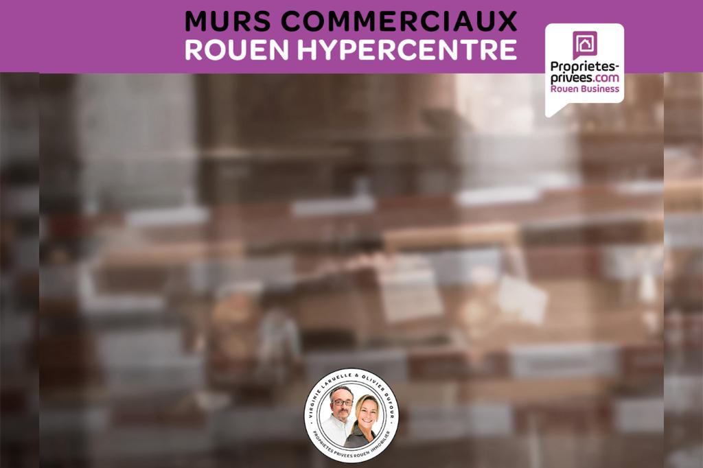 ROUEN VIEUX MARCHE - MURS COMMERCIAUX OCCUPES