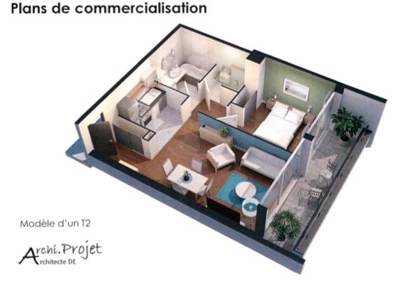 Hyper Centre Reims  47.29 m2
