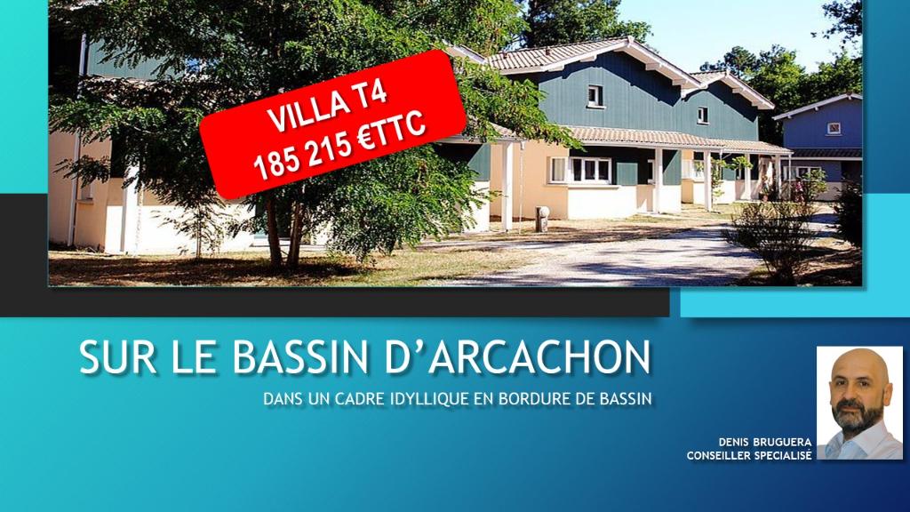 A VENDRE Villa T4 - ARES (33740)