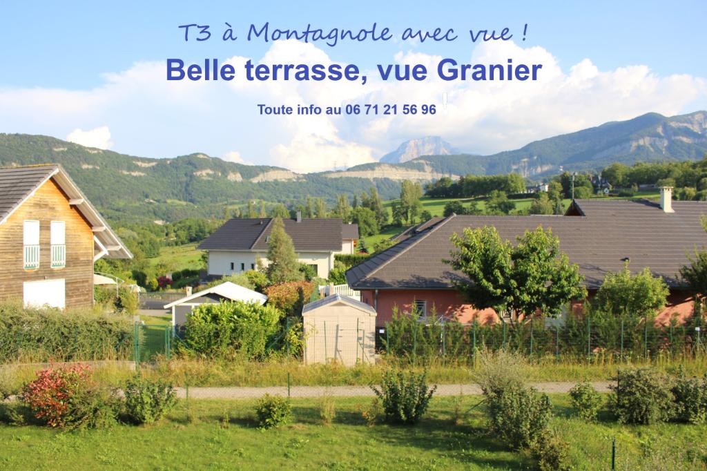 Appartement Montagnole 3 pièce(s) 70 m2 avec terrasse, cave et parking
