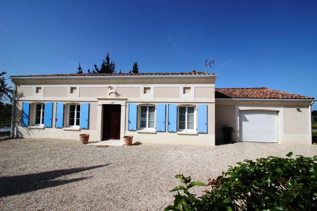 BERNEUIL 17460 - Maison récente - 103 m² - 4 pièces - 3CH