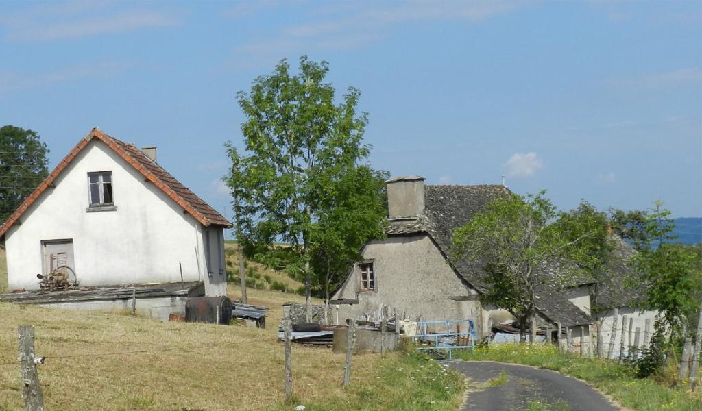 corps de ferme à rénover Junhac (15) 95 + 46 m2 sur 5000  m²