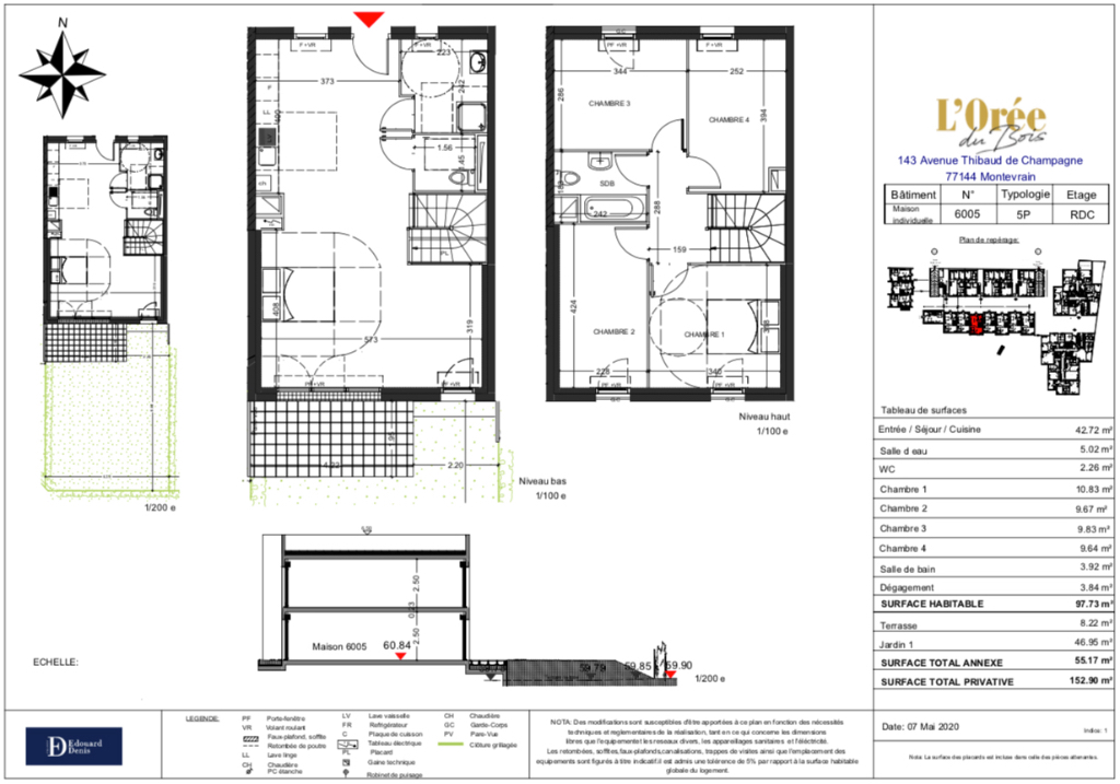 Maison 5p - 98m2 - 77144 MONTEVRAIN