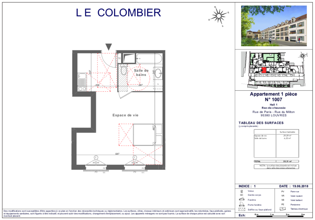 Appartement T1 - 35m2 - 95380 LOUVRES