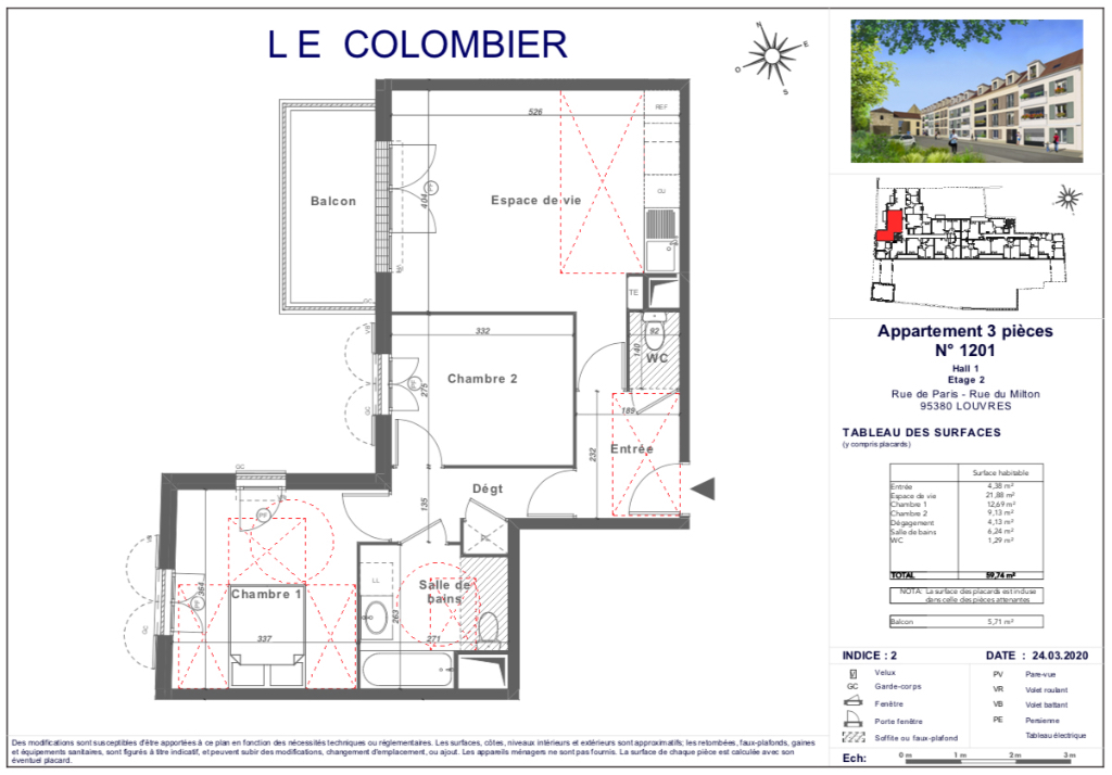 Appartement T3 - 59m2 - 95380 LOUVRES