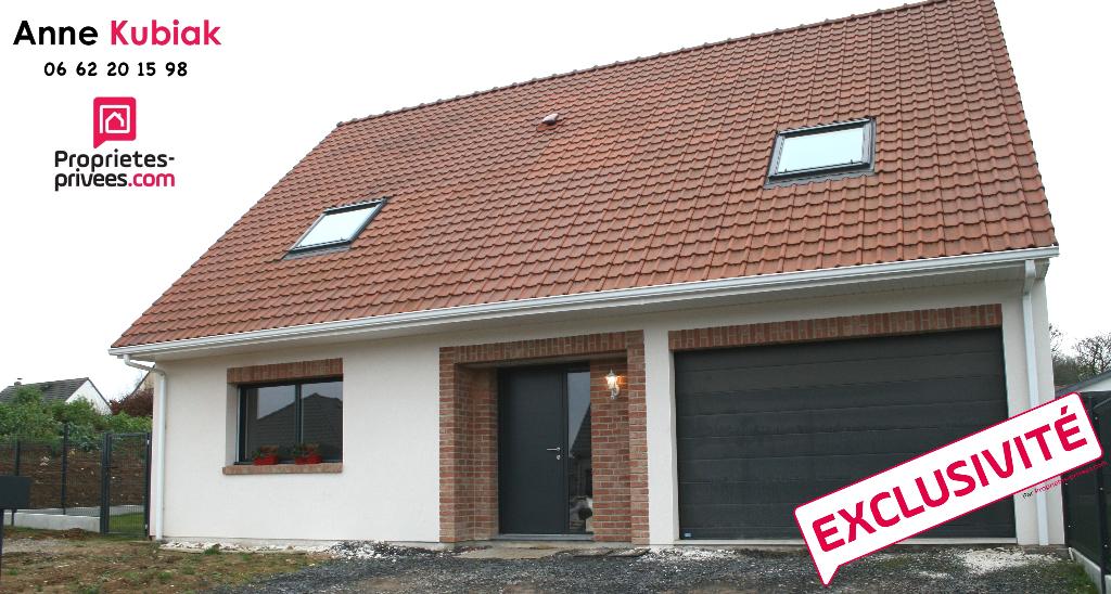 Maison individuelle récente 126 m2-3 chb-garage-jardin