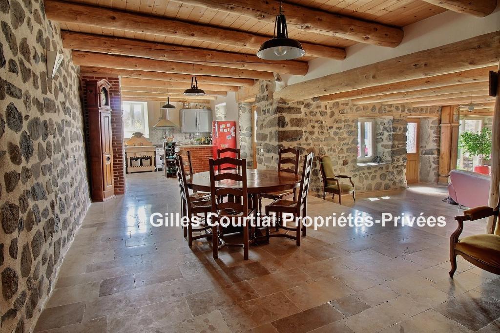 Entre Yssingeaux et Saint Julien Du Pinet 43200 Maison  2 habitations + dépendances sur 4000m² de terrain