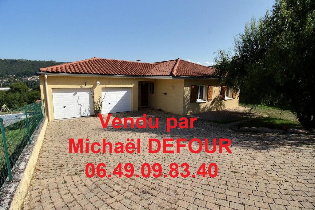 Maison 5 pièces 110 m²  terrain 1400m²