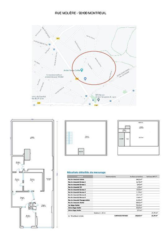 93100 MONTREUIL RUE MOLIERE METRO CROIX DE CHAVAUX - MURS COMMERCIAUX  LIBRES ATELIER 342m²