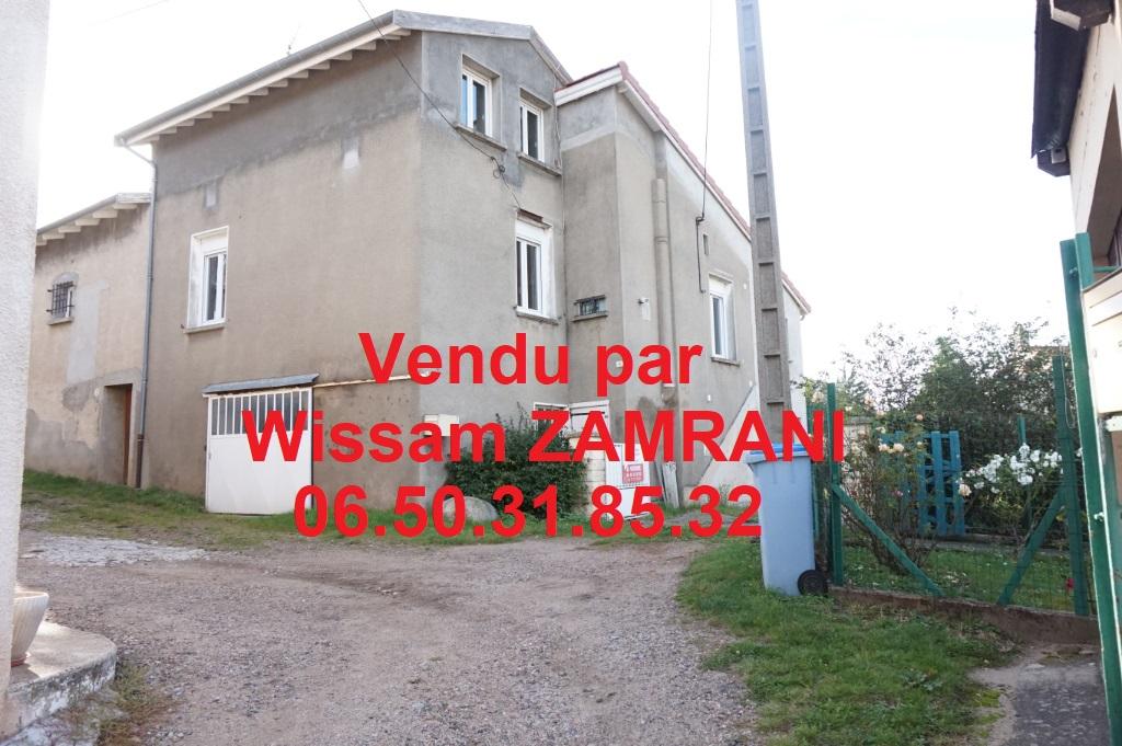 Unieux maison 100m² 3 chambres terrain et sous-sol