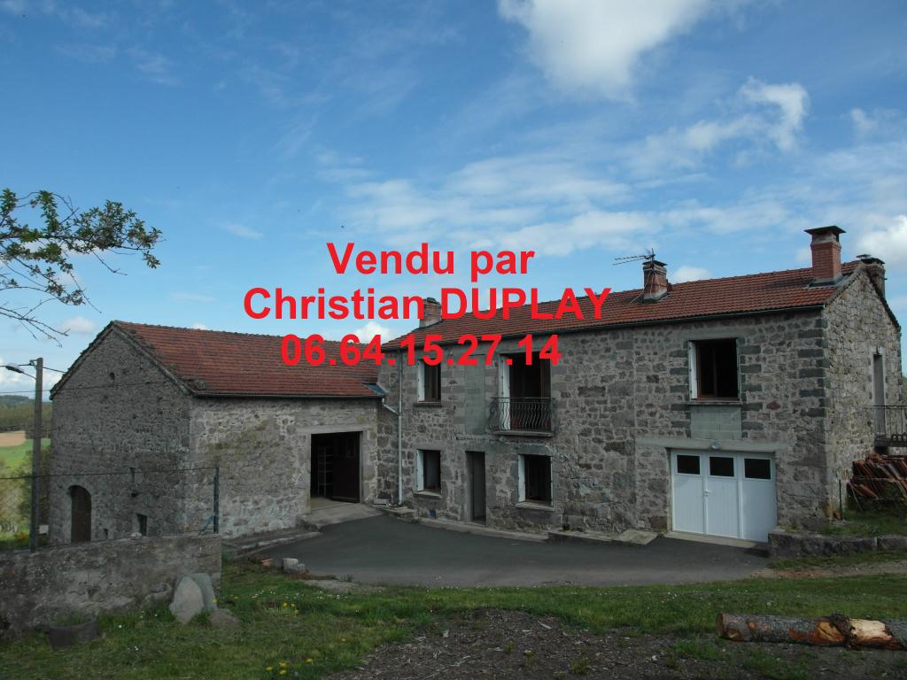 Maison pierre Saint Romain Lachalm 6 pièces 113 m² dépendances sur 1600m² de terrain