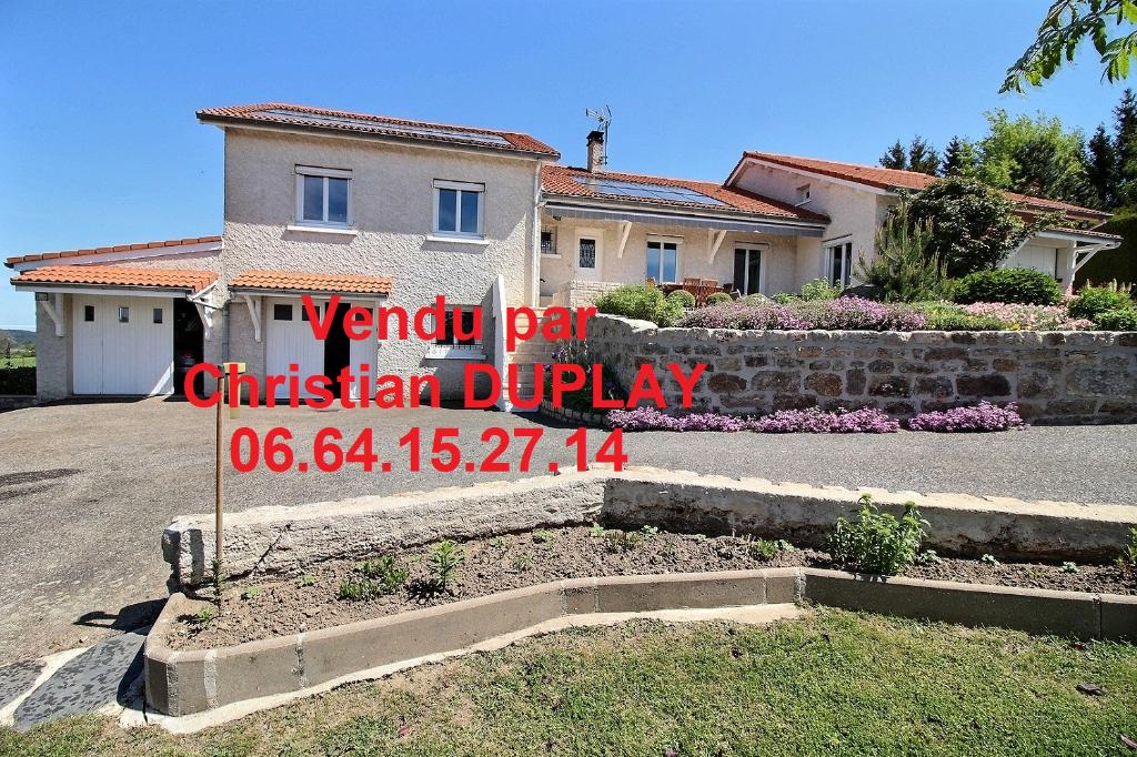 Saint Romain Lachalm maison 144m² 4 chambres sur 1000m² de terrain