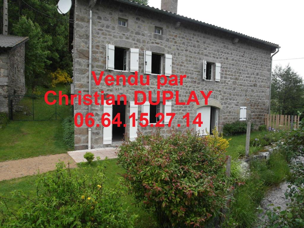 Saint Régis du Coin 42660 maison pierre 65m² habitables sur 1250m² de terrain