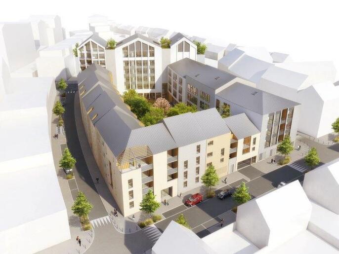 T3 avec 2 grandes chambres et terrasse de 16 m², ANGERS Gare