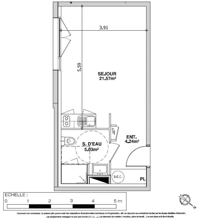Angers Doutre - Place Monprofit : 14 appartements avec parking individuel (T1, T2, T3 et T4)