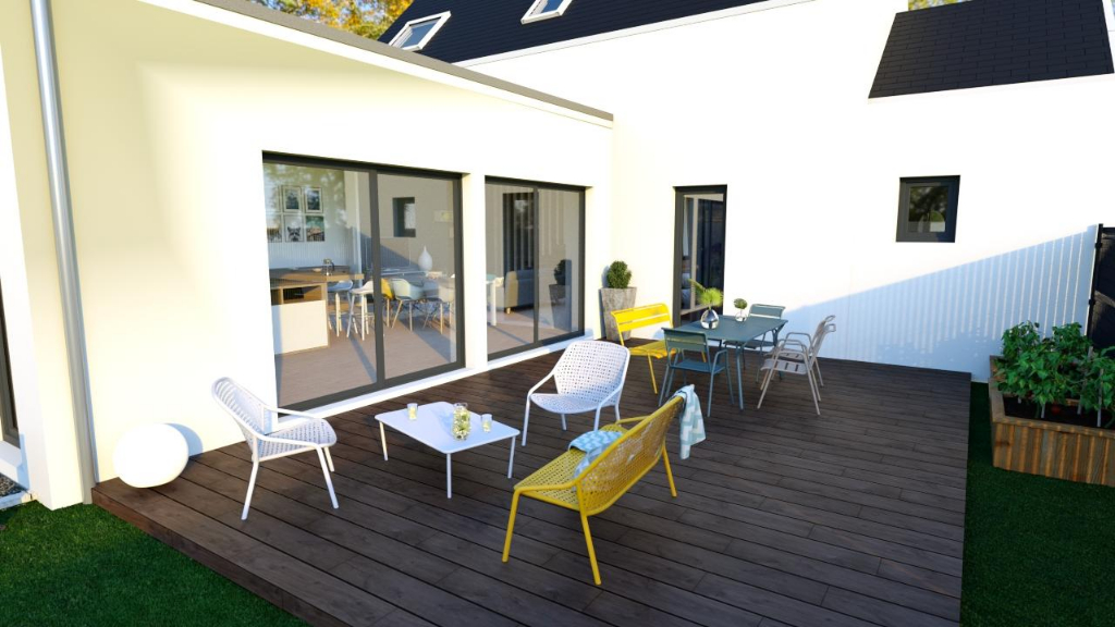 Angers - Saint-Jacques/Nazareth : maison individuelle contemporaine avec jardin et 2 stationnements
