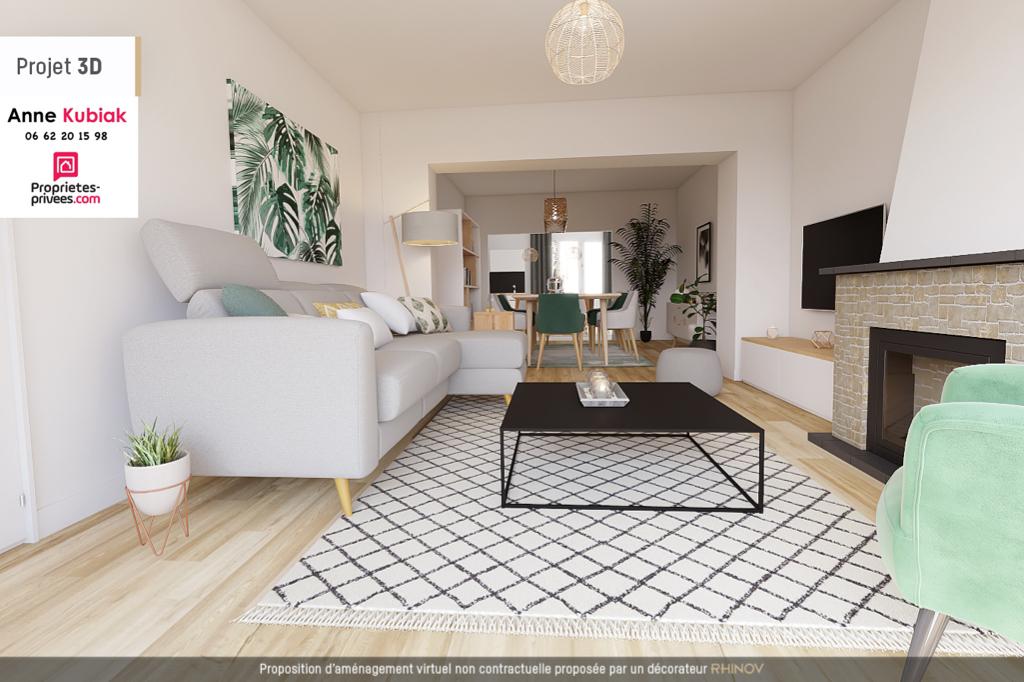 Maison semi plain-pied 127M2 ENV -3CHB -Garage-jardin