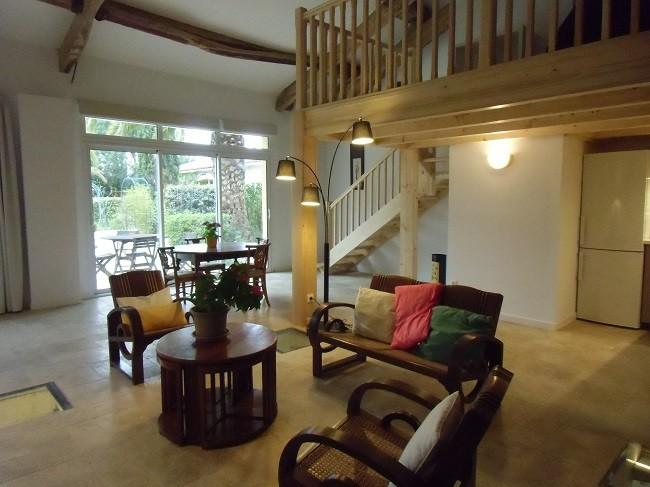 t2 mezzanine 85 m2 jardin terrasse