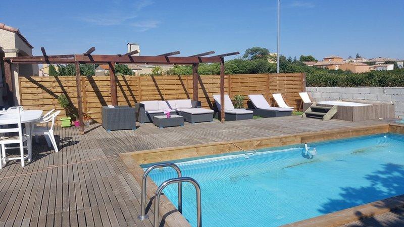 Villa T4 avec piscine Alignan du Vent